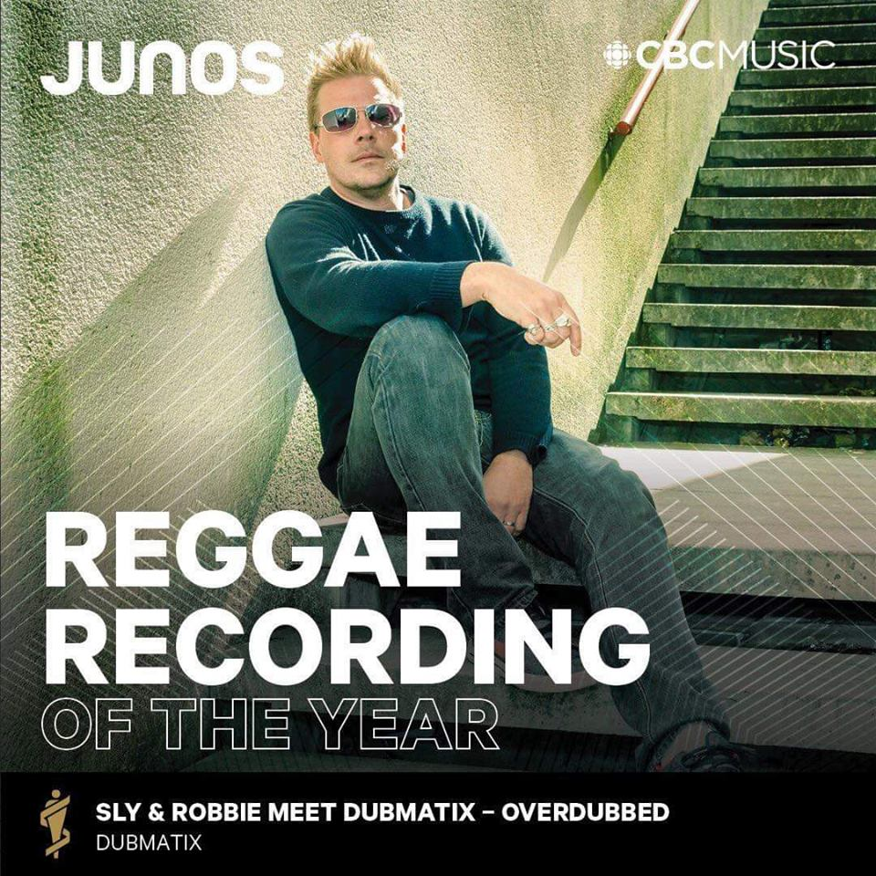 Dubmatix wins Reggae Recording of the Year at the 2019 Junos Gala Dinner & Awards