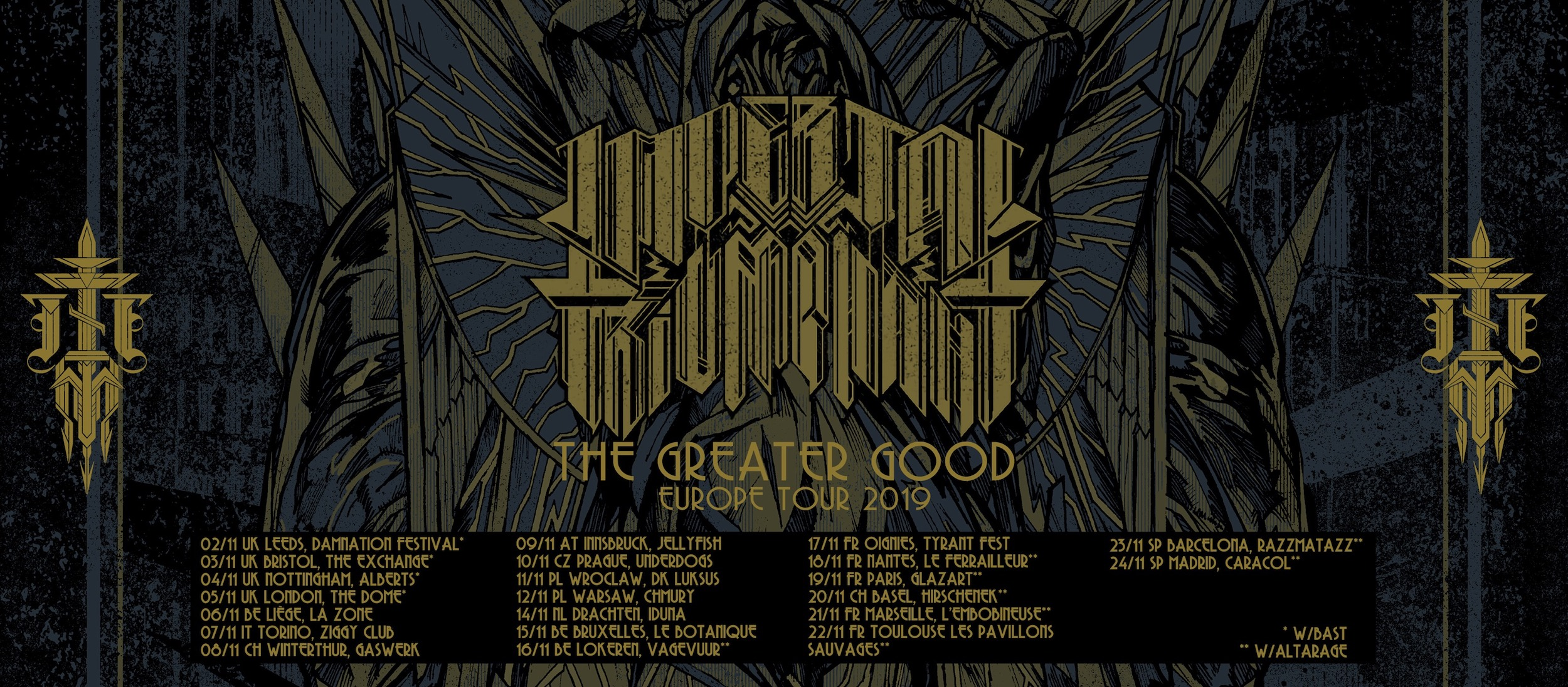 Imperial Triumphant The Greater Good Europe Tour 2019