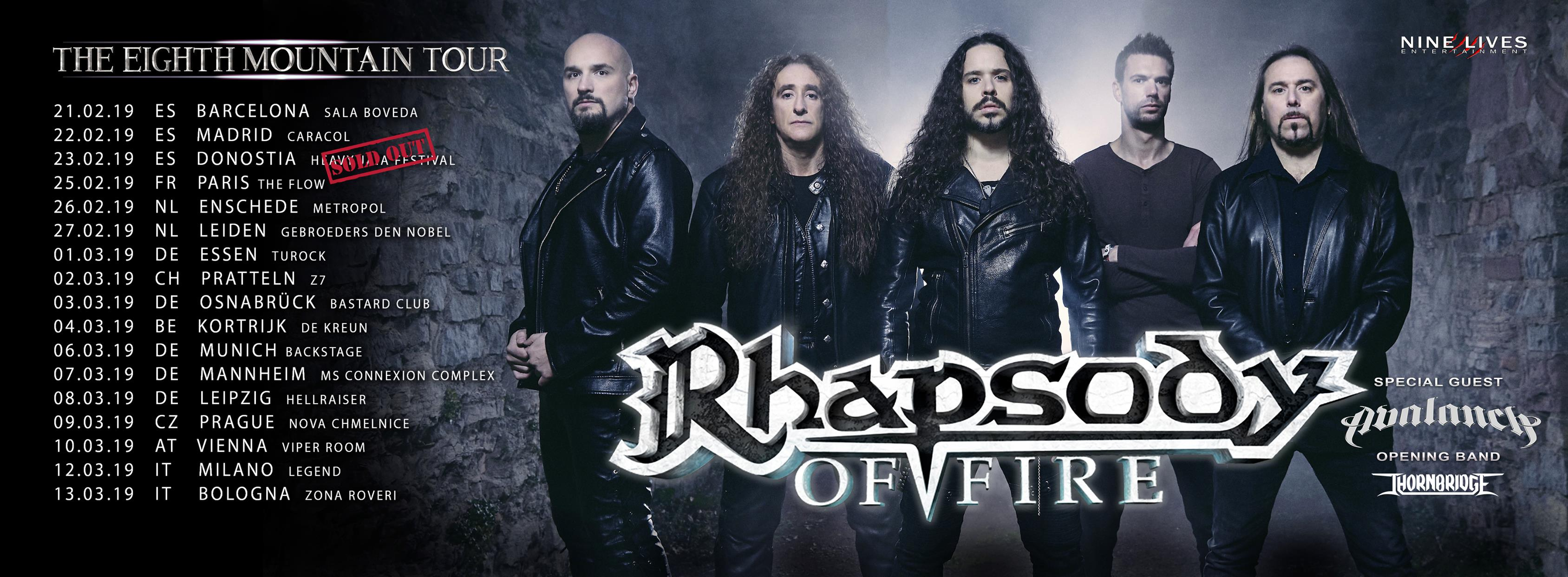 Rhapsody Of Fire The Eighth Mountain Tour